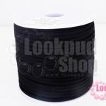 หนังชามัวร์(หนังแบน) สีดำ No.1 100หลา(1ม้วน)