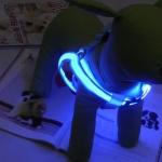 อานบังคับสุนัข LED สีฟ้า ไซส์ L