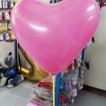 """ลูกโป่งหัวใจ เนื้อสแตนดาร์ทสีชมพูเข้ม ไซส์ 12 นิ้ว แพ็คละ 10 ใบ (Heart Latex Balloon - Deep Pink Color 12"""")"""