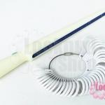 ทีวัดแหวนพร้อมห่วงแหวน สีขาว (1ชุด)
