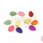 หินแฟนซี หยดน้ำ คละสี 12x8มิล (10ชิ้น)