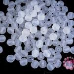 ลูกปัดพลาสติก กลมเจียร สีขาว 5มิล(100กรัม)