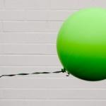 """ลูกโป่งกลม สีเขียว ไซส์ 18 นิ้ว จำนวน 1 ใบ (Round Balloon - Standard Green Color 16"""")"""