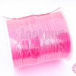 เอ็นสำหรับทำ Tattoo Choker สีชมพูสะท้อนแสง เบอร์ 0.80 (1ม้วน)