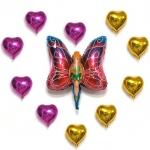 ลูกโป่งฟลอย์ บัตเตอร์ฟลายเกิลย์ ใหญ่ - Butterfly Girl Foil Balloon / Item No.TL-A041
