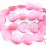 หินตาแมว หัวใจ สีชมพู 16มิล (1เส้น)