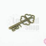 จี้ทองเหลือง กุญแจ 12X27มิล (1ชิ้น)