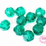 คริสตัลจีน กลมเจียรเหลี่ยม สีเขียว 12มิล(1ชิ้น)