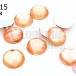 เพชรแต่ง กลม สีส้มอ่อน ไม่มีรู 12มิล(20ชิ้น)