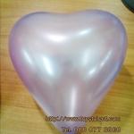 ลูกโป่งหัวใจ เนื้อมุก สีม่วงอ่อน ไซส์ 6 นิ้ว แพ็คละ 10 ใบ