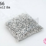 ตะขอสร้อยก้ามปู สีโรเดียม 6x12มิล (1,000ชิ้น)
