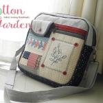 กระเป๋าแฮนด์เมด ผ้าญี่ปุ่น แบบสะพายข้าง ใส่ แทปเลต หรือโน๊ตบุคได้ ขนาด 30*30 ซม
