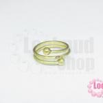 โครงแหวน ทองเหลือง กลม 3 ชั้น ไซส์แหวน 17ซม./เบอร์ 53 (1 วง)
