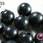 ลูกปัดมุก พลาสติก สีดำ 16 มิล (1ขีด/100กรัม)