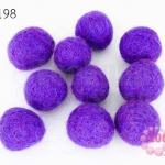 ลูกบอล Feit 15มิล #3 สีม่วงอ่อน (5ลูก)