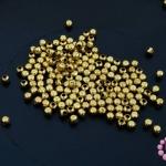 ลูกปัดโลหะ ทองเหลือง กลมเหลี่ยม 2.5มิล (1ขีด)