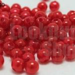 ลูกปัดมุก พลาสติก สีแดง 5มิล 1 ขีด (1,820ชิ้น)