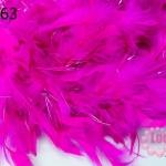 ขนนก มีดิ้น สีชมพูช็อกกี้พิงค์ (1เส้น)