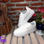 รองเท้าผ้าใบแฟชั่นเกาหลี สีขาว รุ่น205 เบอร์36-39