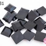 เพชรแต่ง สี่เหลี่ยม สีดำ ไม่มีรู 10มิล(20ชิ้น)