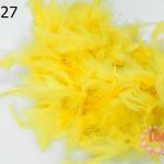 ขนนกเฟอร์ สีเหลือง (1เส้น)