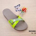 รองเท้า MONOBO โมโนโบ้ รุ่น Jello เจลโล่6 เบอร์ 5-8 สี น้ำตาล-มะนาว