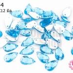 เพชรแต่ง หยดน้ำ สีน้ำเงินอ่อน มีรู 7X12มิล(20ชิ้น)