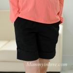 กางเกงคลุมท้องขาสั้น สีดำ : Size L รหัส PN022
