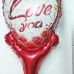 บอลลูนเป่าลม ทรงหัวใจ พิมพ์ลาย LOVE YOU หัวใจสีแดง / Item No. TL-M012 สำเนา