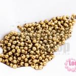 ลูกปัดทองเหลือง กลม 2มิล (4,470เม็ด)