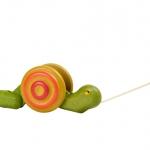 ของเล่นไม้ ของเล่นเด็ก ของเล่นเสริมพัฒนาการ Pull-Along Snail