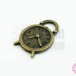 จี้ทองเหลือง รูปนาฬิกา 15X23 มิล (1ชิ้น)