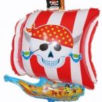 ลูกโป่งฟลอย์ เรือโจรสลัด - Pirate ship Foil Balloon / Item No.TL-A109