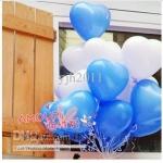 """ลูกโป่งหัวใจ เนื้อสแตนดาร์ทสีน้ำเงิน ไซส์ 12 นิ้ว แพ็คละ 10 ใบ (Heart Latex Balloon - Deep Blue Blue Color 12"""") สำเนา"""