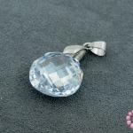 จี้หินมณีใต้น้ำ(เพชรพญานาค) ถุงใส่เงิน สีขาวใส 18X30มิล (1ชิ้น)