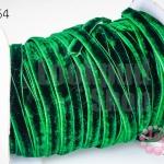เชือกผ้า ริบบิ้นกำมะยี่ สีเขียวเข้ม (1ม้วน/50หลา)