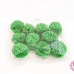 ปอมปอมไหมพรม สีเขียว 3ซม (10ชิ้น)