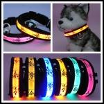 ปลอกคอ LED ลาย Pluto Collar สีเหลือง ไซส์ XL สำหรับสุนัข
