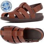 US8 : Fitflop Men's FFisher Leather Tan ของแท้ นำเข้าจาก USA และ UK