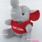 ตุ๊กตาพรีเมี่ยม RICOH ตุ๊กตาช้างนั่ง ใส่เสื้อ สูง8นิ้ว D5505Q1600