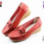รองเท้าแฟชั่นหุ้มส้น CSB ซีเอสบี รุ่น FZ92-573 สีเแดง เบอร์ 36, 40