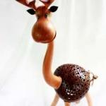 โคมไฟกะลามะพร้าวรูปกวาง Coconut Shell Lamp (Deer)