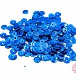 เลื่อมปัก กลม สีน้ำเงิน 6มิล(5กรัม)