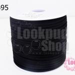 หนังชามัวร์(หนังแบน) สีดำ No.1 (1ม้วน/100หลา)