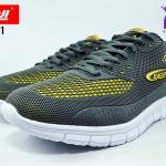 รองเท้าผ้าใบ BAOJI บาโอจิ รุ่น DK99371 สี เทาเหลือง เบอร์ 41-45