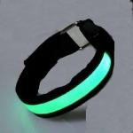 สายรัดแขนแถบไฟ LED กระพริบแสง สีเขียว