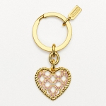 พวงกุญแจ COACH ROPED PAVE HEART KEY RING