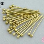 ตะปูหัวหมุด สีทองเหลือง (หนา) 25มิล (10กรัม)