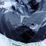 เชือกป่านย้อมสี สีดำ #19 เส้นเล็ก (1ม้วน)
