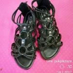 ::มือสอง:: รองเท้าสไตล์โบฮิเมียน สีดำ เบอร์ 38-39 ใส่ได้